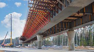 цкад, кольцевая дорога, опалубка путепроводов, опалубка мостов, опалубка peri