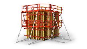Flexible girder wall formwork, also for high-grade architectural concrete surfaces. Fleksibel veggforskaling, også for høye arkitektoniske krav til betongoverflate
