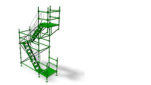 QUICKSTAGE ACCESS - Allows for quick and easy erection of all access types, static or mobile towers, bird cage scaffolds and independent scaffolds