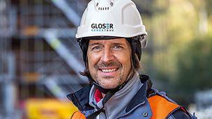 Porträt von Oliver Bernhardt, Bauleiter, Gloser GmbH, Walzbachtal