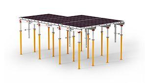 Panelové stropní bednění SKYDECK: lehké a osvědčené hliníkové panelové stropní bednění s krátkou dobou obednění