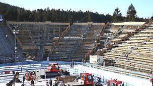 BMW IBU World cup Biathlon, Nové Město na Moravě: Doplnění stávající tribuny na stadionu.