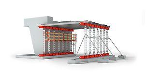 Podupirač za opterećenja do 200 kN s montažom bez alata