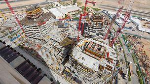 """Jeddah Gate """"E3 – Abraj Al-Hilal 2"""" im Rohbau"""