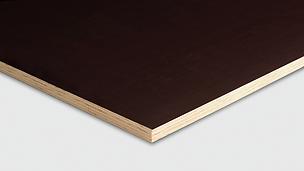 Die PERI Pine Schalungsplatte verfügt über einen 9-fachen Kiefernfurnieraufbau.
