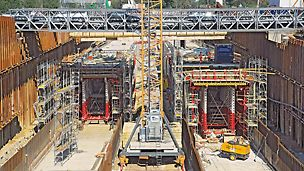 Citytunnel Malmö, Schweden - Der südliche Einfahrtsbereich wird auf etwa 1,5 Kilometer Länge in offener Bauweise ausgeführt.
