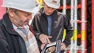 PERI anställda använder mjukvaran BIM (Building Information Modeling)