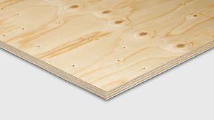 Bygg- och konstruktionsplywood är en idealisk att använda vid byggnationer.