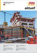 Cover der 2. Ausgabe des Kundenmagazins PERI aktuell Deutschland für das Jahr 2015