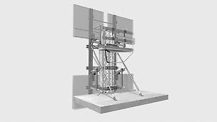 ◾Die Fassadenschalung FTF trägt übliche Fertigteilabmessungen ohne zusätzlichen Aufwand für Zwischenunterstützungen.
