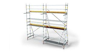 Moduláris vasszerelő állvány a hatékony munkavégzésért.