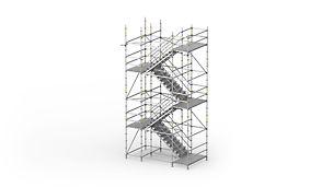 PERI UP Flex Treppe Stahl 100,125: Für hohe Anforderungen an Tragfähigkeit und Begehbahrkeit.