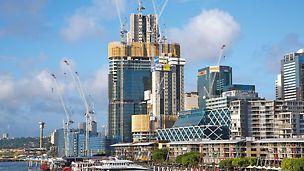Hochhäuser und Türme, Barangaroo South, Sidney, Australien