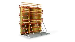 Cofrajul flexibil din grinzi de cofraj GT 24 pentru pereți și pentru suprafețe de beton arhitectural.