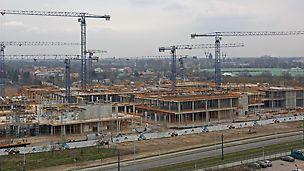 Deskowania PERI gwarantowały płynność realizacji Galerii Północnej w Warszawie przy trzech otwartych frontach robót żelbetowych