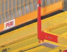 Guardrail holder, for mounting edge protection on slab formwork