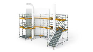 Industrial scaffolding, Suspended scaffolding, Reinforcement scaffolding