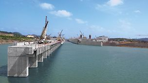 PERI Press Release: Completion now within reach: flooding of a canal section Expansion of the Panama Canal