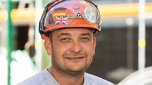 Porträt von Florian Beyer, Vorarbeiter bei Schäfer Gerüstbau GmbH, Region Ulm