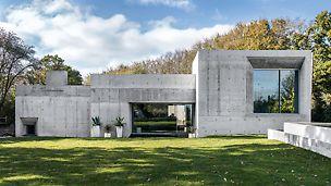 A betonház a PERI első lakóház projektje, mely az Egyesült Királyságban DUO zsaluzattal valósult meg. (Fotó: seanpollock.com)