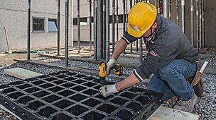 Einfaches Lösen der Befestigungsschrauben genügt. Dadurch schnelle Instandsetzung – ohne spezielles Werkzeug oder sonstige Fachkenntnis.