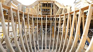 Bosjes Chapel - The planning, technical design and production of the customized trusses is done with 3-D modelling.