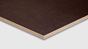 PERI wiremesh-kryssfinèr med Non-slip filmfaced belegg for applikasjoner med antiskli krav The Plywood features non-skid filmfaced coating for special applications Filmbelagte plater, produsert i Russland. Der en side er med sklisikkert mønster. OSB finer finèr kryssfiner plate tre panel PERI spon forskalingsfiner prefab industri stillas reis dekke forskaling domino Trio Quatro søyle panel dekke vegg OSB finer plater