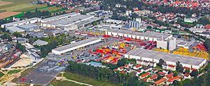 Oversiktsbilde av hovedkontoret i Weissenhorn