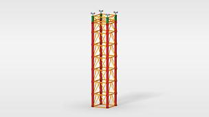 Sistema de cimbra para cargas muy elevadas en la construcción de puentes y aplicaciones especiales en el ámbito industrial
