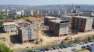 Obytný súbor Nová terasa - Obytný súbor Nová terasa predstavuje 8 samostatne stojacich objektov. Objekt bude prevedený z nehorľavých konštrukčných prvkov druhu D1 a tvorí nehorľavý konštrukčný celok. Návrhová životnosť konštrukcií je 50 rokov.