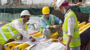 With efficient and safe formwork and scaffolding systems quality and support are guaranteed.