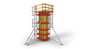 Pre kontinuálne variabilné prierezy, všetky výšky a požiadavky na pohľadový betón.