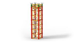Podpěrný systém pro velká zatížení při výstavbě mostů a speciální aplikace v průmyslové výstavbě.