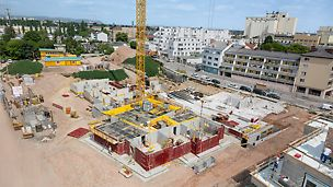 "Aerial view of the jobsite of the ""villanova"" housing estate"