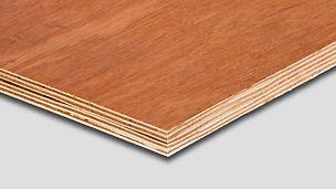 Dřevěná deska Bintangor je jednoduchou dovozovou překližkou od PERI.