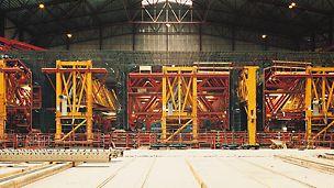 Øresundstunellen - Produktionshallen til støbning af tunnelsektionerne.