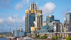 Barangeroo South, Sydney - Die drei ITS Hochhaustürme bilden das Zentrum des ehrgeizigen Barangaroo South Projekts am Hafen von Sydney.