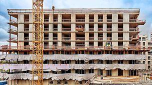 Blok A3 bestaat uit zes gebouwen met negen verdiepingen (zeven bovengrondse en twee ondergrondse niveaus).