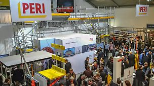 Big intake at BAU 2017: On the first two days already, PERI counted significantly more visitors than in 2015. The interested persons were particularly closely scrutinizing the PERI novelties.