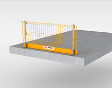 Side mesh barrier, for reliable securing