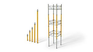 MULTIPROP Aluminium Slab Props: Used as a cost-saving lightweight individual prop and cost-effective shoring tower