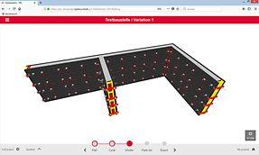 """Grundriss im Status """"Geschalt"""" mit berechneter DUO Schalung in 3D-View."""