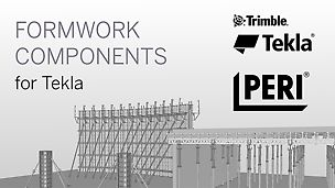 The Tekla Components are a complete library of PERI's most successful formwork systems