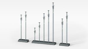 El puntal para losas de tubo de acero galvanizado con una capacidad de carga de hasta 50 kN