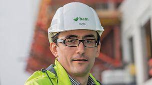 Porträt von Dragan Curic, Bauleiter bei BAM Deutschland AG, Stuttgart