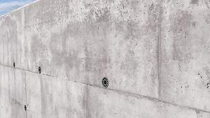 DUO se hodí zejména pro obednění malých rozměrů v podzemních prostorách, kde jsou kladeny pouze malé nároky na povrch betonu.
