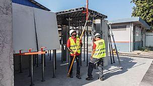 Geringe Gewichte, kranfreies Arbeiten und intuitive Anwendung machen DUO zum idealen Werkzeug auch für weniger schalungserfahrene Baustellenteams.
