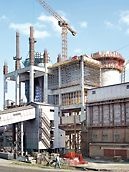 Cementárna Ivano-Frankovsk: V rámci rozšíření a modernizace cementárny navrhli technici PERI komplexní a propracované řešení bednění a lešení.