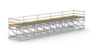 Para plataformas de trabajo de gran luz y pasarelas peatonales temporales