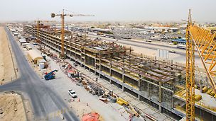 Bau der Barwa Commercial Avenue, Doha, Katar